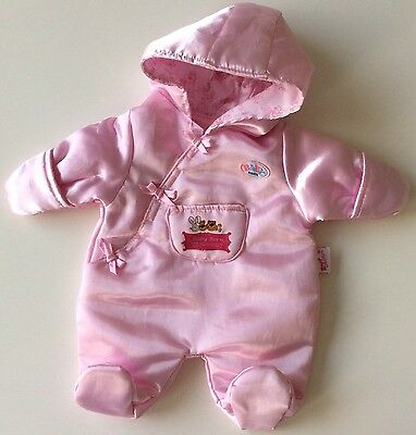 Zapf Creation Baby Born All In 1 Snow Outfit- Satin. Great Preloved Condition!