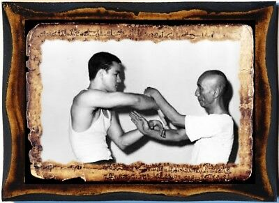 Yip Man Bruce Lee 葉問wood handmade icon master teacher of Wing Chun