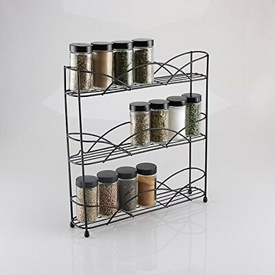 Herb and Spice Rack Free Standing Fits Multiple Sized Jars up to 21 Jars NEW