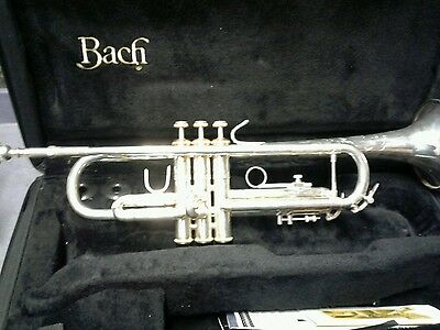 Bach Silverplated Soloist Trumpet Made In Usa