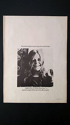 "Janis Joplin ""get It While You Can"" 1971, Very Rare Original Print Promo Poster"