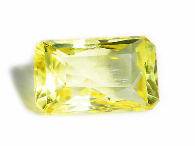 13.29 Cts Loose 100% Natural Octagon Cut Yellow Feldspar Gemstone Ceylon-13395