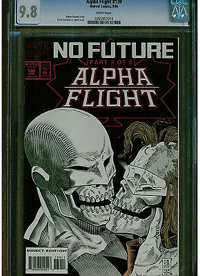 Alpha Flight #130 Cgc 9.8 White Pages Last Issue Lower Printing 1994 Blue Label