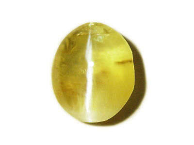 0.80 Cts Loose Natural Oval Cut Green Chrysoberyl Cats Eye Gemstone Ceylon-14378