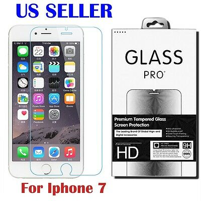 2.5D 9H Premium Real Tempered Glass Screen Protector Film for Apple iphone 7