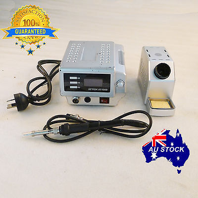 ATTEN SOLDERING STATION IRON 100W AT100D LEAD FREE LED Digital OZ 1 Year WRT
