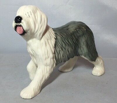 Lovely Vintage Beswick Gloss Old English Sheep Dog Figure