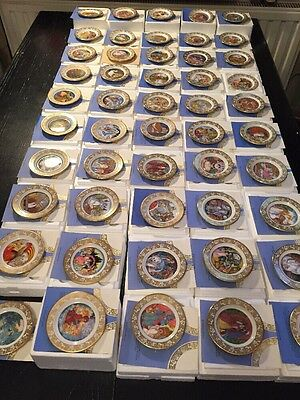 Very Rare Set Of 50 Franklin Porcelain Miniature Plates Best Loved Fairy Tales