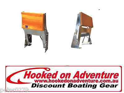 """Tenob"" Stainless Steel Outboard Motor Brackets Vertical Mount Adjustable HOA277"