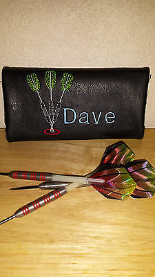 Personalised Embroidered Darts Case with darts design