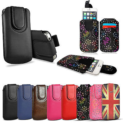 Quality Pull Tab Slide Slip In Top Flip Up Phone Case Pouch Sleeve For Apple