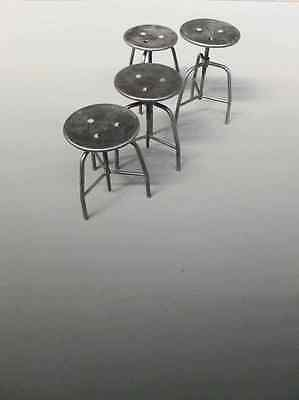 2er Set - Industriedesign Hocker/ höhenverstellbare Arzthocker/ Metallhocker