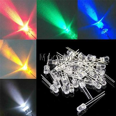 5mm Round Red/Green/Blue/Yellow/White/Purple Water Clear LED Diodes Light Kit MO