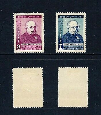 DOMINICAN REPUBLIC _ 1940 'SIR ROWLAND HILL' SET of 2 _ mlh ____(462)