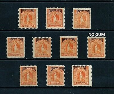 NICARAGUA _ 1894 'OFFICIAL' SET of 10 _ mh ____(462)
