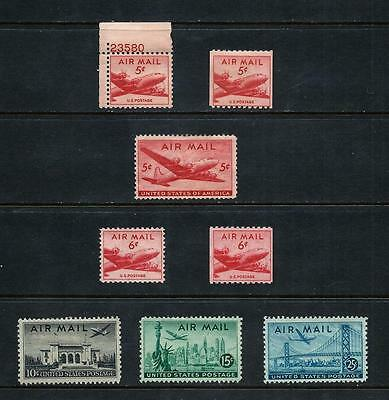 UNITED STATES _ 1940's 'AIRMAIL' 8 _ mh ____(462)