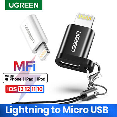 UGREEN Micro USB to Lightning 8 Pin Adapter Converter Fr Apple iPhone 8 7 6 iPad