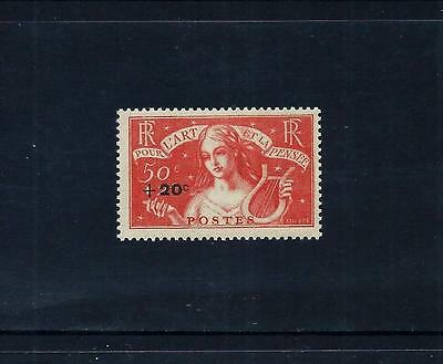 FRANCE _ 1936 'INTELLECTUAL FUND SURCHARGE' 50c + 20c _ mnh ____(462)