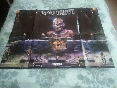 Iron Maiden - giant A1 double sided poster with 4 coasters