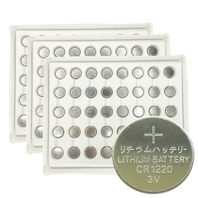 120 x 3v CR1220 ECR1220 DL1220 Lithium Button Coin Cell Batteries for Watches UK