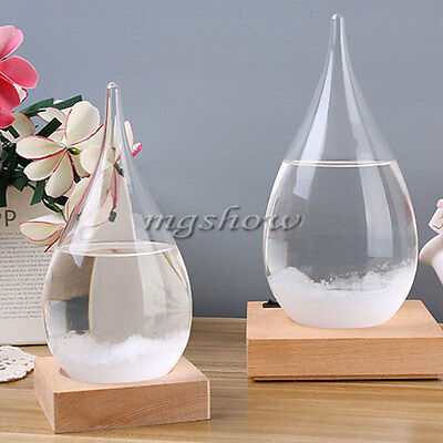 Water Drop Shaped Weather Forecast Crystal Storm Glass Bottle Home Decor Gifts