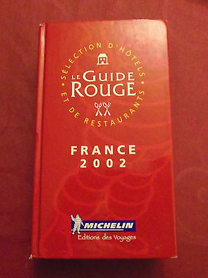 Guide rouge Michelin France 2002