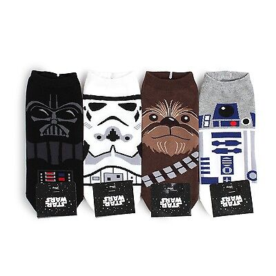 (4 Pairs) Star Wars Socks Men Boys Funny Darth Vader Trooper Jedi Casual NI14