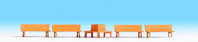 Noch x 5 Benches 14851 HO Scale (suit OO Also)