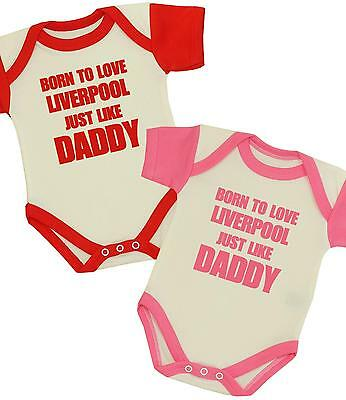 BabyPrem Boys Girls Clothes Daddy Love LIVERPOOL Bodysuit Vest Baby Shower Gifts