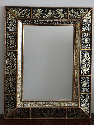 Antique Mirror beautifully decorated thought to be 19th or early 20th Century