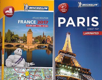 France Mini Pocket Atlas And Paris Map Pack - Michelin - New - 2017/ 2016