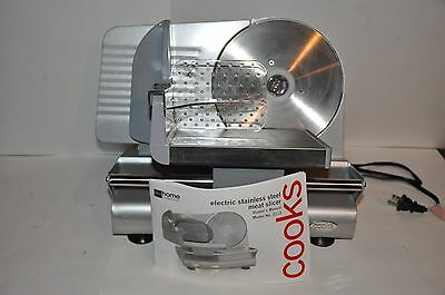 Cook's Electric Stainless Steel Meat Slicer #2113 - New