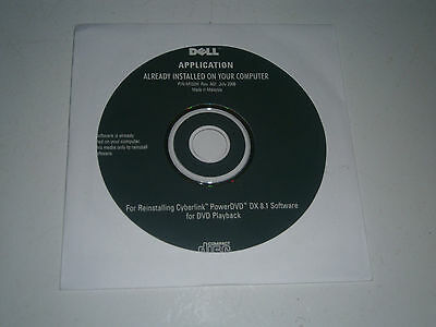 CYBERLINK PowerDVD DX 8.1 Software for DVD Playback NEW SEALED - ONLY $2 POSTAGE