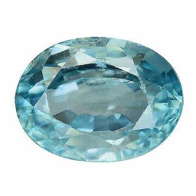1.805Cts Excellent Luster Blue Natural Zircon Oval Loose Gemstones