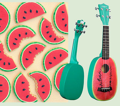 21 inches Watermelon Pattern Beginners Preferred Musical Instrument Ukulele