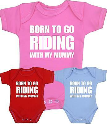 Baby Clothes Funny Slogan Vest Boys Girls RIDING Horse Bike Mummy Shower Gifts