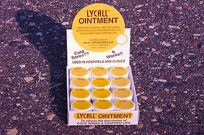 LYCALL COLD SORE OINTMENT 12each - 8 gram Jars