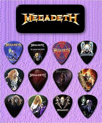 MEGADETH - Guitar Pick Tin includes 12 Guitar Picks *Limited Edition*