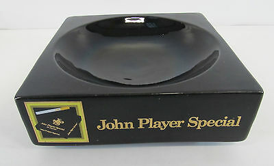 John Player Special By Wade Black Coloured Square Shaped Ash Tray