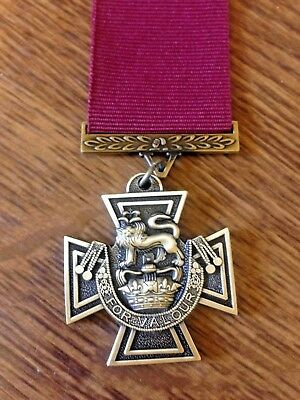 Victoria  Cross  (V.c.)  Medal With Ribbon High  Quality Repro