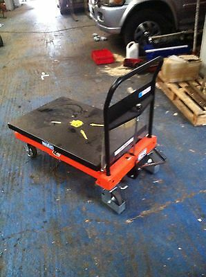 Scissor Lift Platform Truck Lifting Trolley Max Load 550 Kg