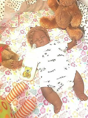12 Inch African-American Mini-preemie baby girl with red hair