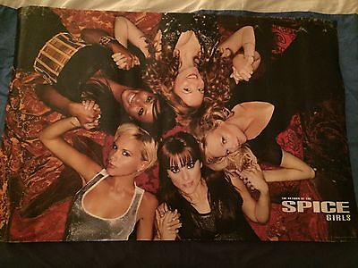 Spice Girls big poster tour 2008 very rare bargain official merchandising