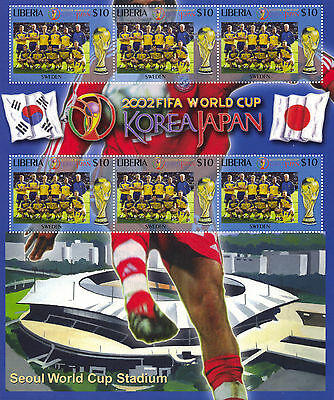 2002 FIFA World Cup Korea Japan Stamp Sheets x 12