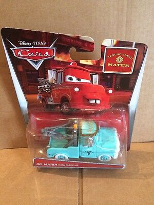 """DISNEY CARS TOON DIECAST - """"Dr. Mater With Mask Up"""" - VHTF - Combined Postage"""