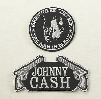 JOHNNY CASH Iron On Sew On Patch 2 Designs