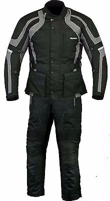 RKSports Commander Motorbike Waterproof Grey Suit Textile Trousers +Jacket CE