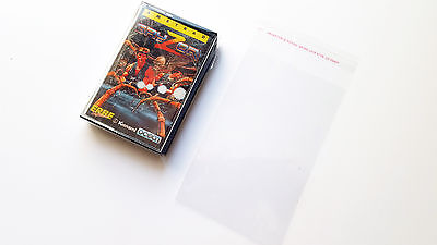 100 Protection Bags Amstrad CPC Schneider Cassette Tape Sleeves Games Spiele