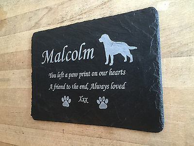 Slate Grave Marker - Pet Memorial Plaque - Made to Order Add Message 1st 4 Signs