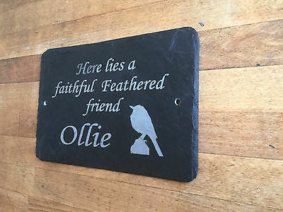 Slate Pet memorial Grave Marker - Hand Made to Order Add Message 1st 4 Signs
